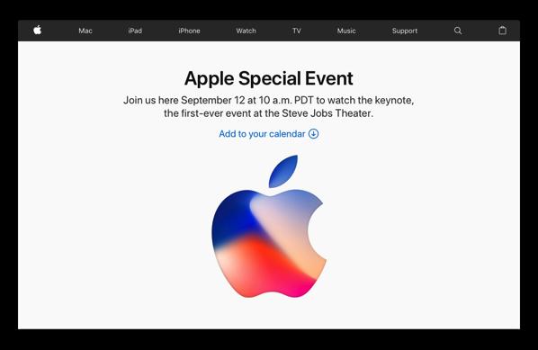 2017年9月13日(日本時間)「Apple Special Event」をリアルタイムで見るのなら、ここをチェック!