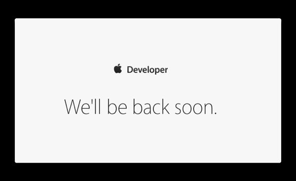 Apple Developer Siteがダウン、開発者はハックの可能性の報告も