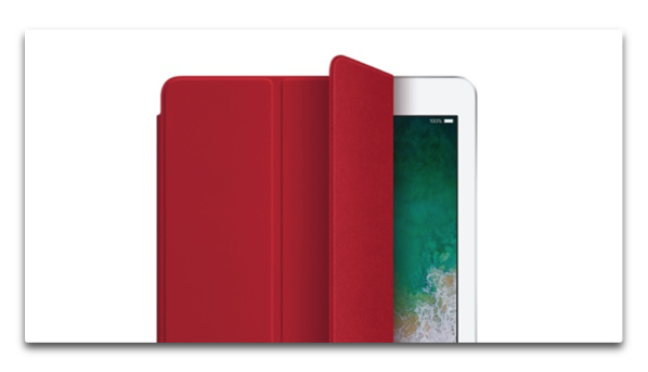 Apple、「10.5インチiPad Pro用レザースリーブ」「iPad Smart Cover」「Apple Pencilケース」に(PRODUCT)REDを追加