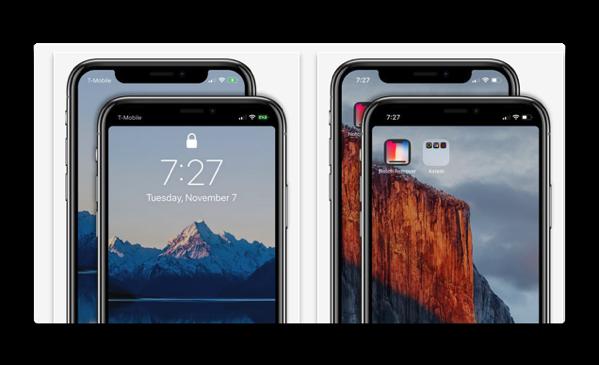 「iPhone X」のノッチを一体化させて隠してしまうアプリ「Notch Remover」