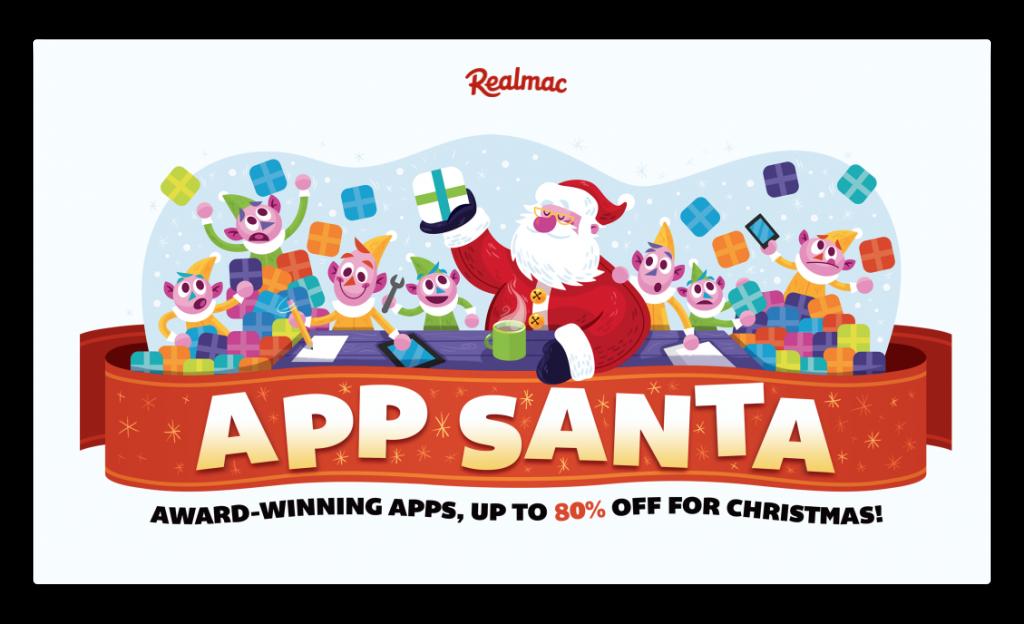 【Sale情報】今年も、MacとiOSアプリのプロモーション「App Santa」(80%オフ)が19日より開催
