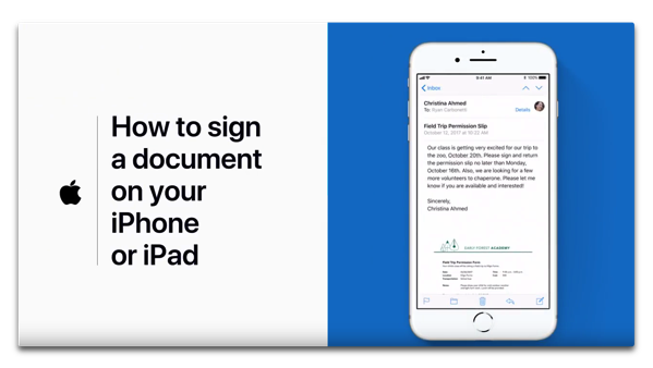 Apple、Apple Supportチャンネルで「How to sign a document on your iPhone or iPad」を公開