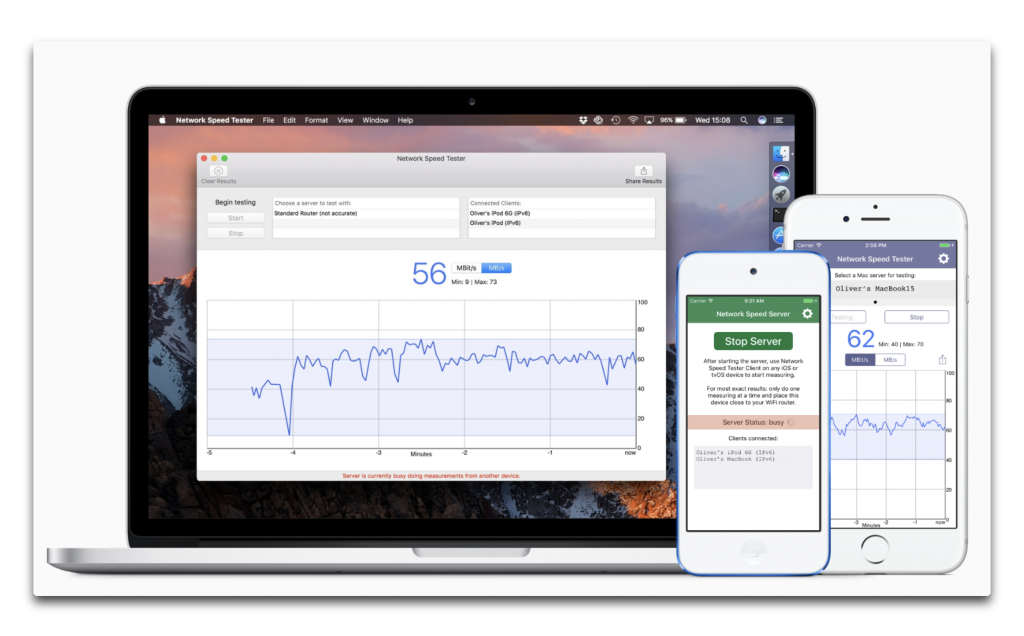 【Ma/iOS】自分で改善できる、ローカルネットワークの速度をテストする「Network Speed Tester」