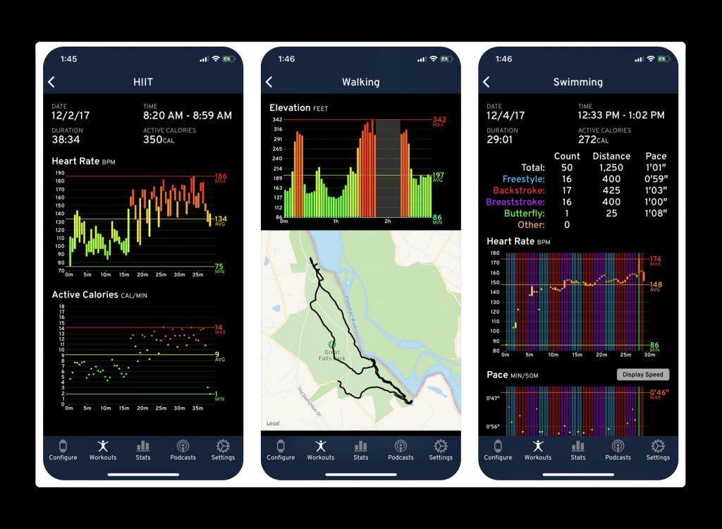 【iOS / Apple Watch】表示項目・配置をカスタマイズ可能な無料のフィットネスアプリ「Workouts++」