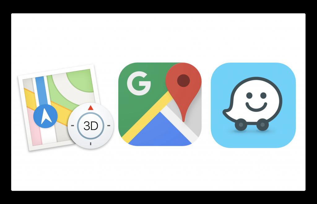 Appleマップ vs. Googleマップ vs. Waze、車でのナビゲーションどのマップが正確か?