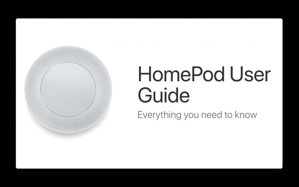 Apple、「HomePod User Guid」を公開