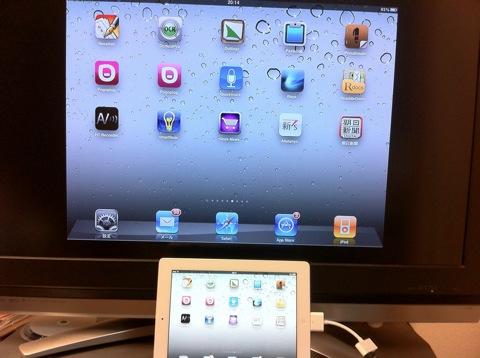 iPad2をテレビの大画面で見よう!