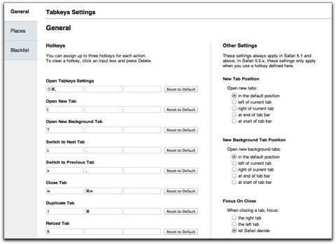 【Mac】タブ操作もブックマークレットもショートカットで操作、Safari機能拡張「Tabkeys」