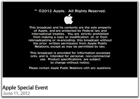 Appleの「WWDC 2012」キーノートが公開されています