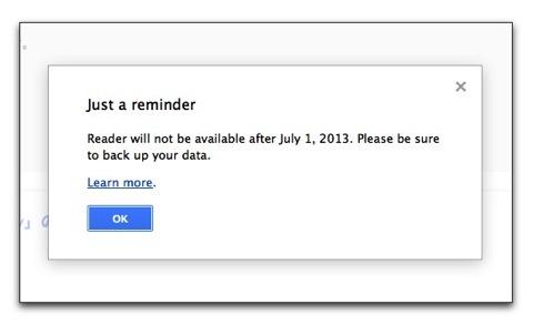 【Mac,iPhone,iPad】残すところ後一日、Googleリーダーのフィードのエクスポートは済みましたか?
