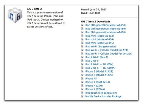 【iPhone,iPad】Appleが開発者に対してiPad,iPad miniもサポートした「iOS 7 beta2」をリリース