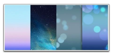 iPhone 5の壁紙をiOS 7デフォルトに変えて、気分はiOS 7