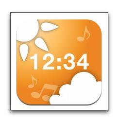 【iPhone,iPad】アラーム音楽でその日の天気がわかる目覚ましアプリ「お天気時計」がバージョンアップ記念セール