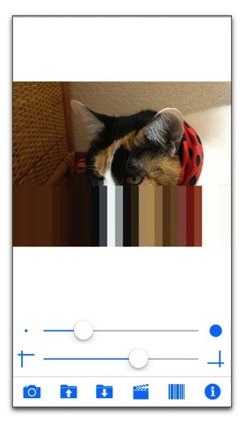 【iPhone,iPad】写真を動画をストライプやチェックのムービーに「StripeCam」