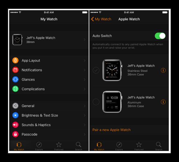 【Apple Watch】watchOS 2.2 、複数のペアリングのビデオとスクリーンショット