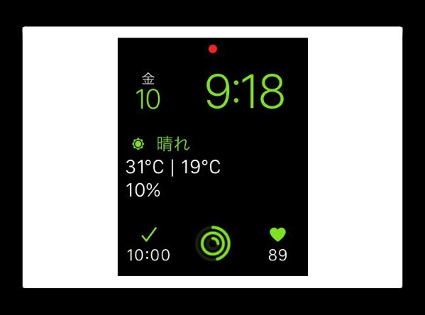私の Apple Watch に表示するコンプリケーション