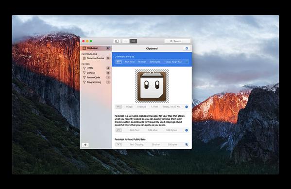 【Mac】あの神アプリの「PTHPasteboard Pro」が帰ってきた、クリップボードマネージャー「Pastebot for macOS」のパブリックベータ版を配布しています
