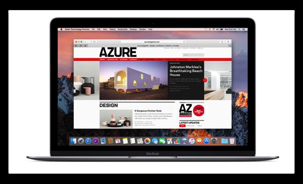 「macOS Sierra 10.12.4 beta」のSafariのバージョンは10.1
