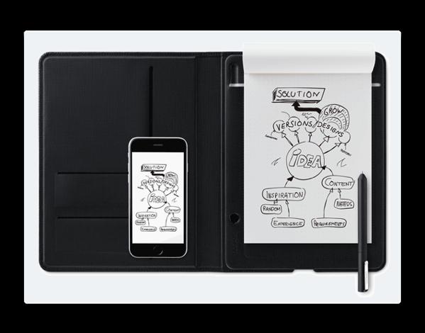 ワコム、紙に書いたメモやアイデアをiPhoneやiPadなどに保存できる「Bamboo Folio」を発売