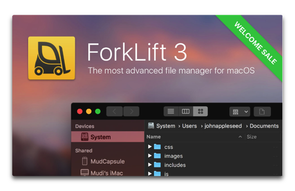 【Mac】デュアルペインファイルマネージャー&転送クライアント「ForkLift 3」をリリースで「ForkLift 2」はMac App Storeで無料