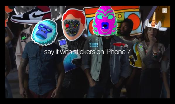 Apple、メッセージのステッカー機能をアピールしたCM「iPhone 7 – Sticker Fight」を公開