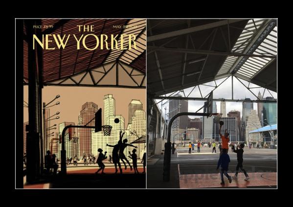 今週の週刊誌「The New Yorker」のカバーイラストは  、iPad ProとApple Pencilで作成