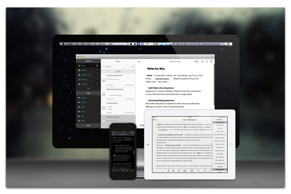 【Sale情報/iOS】テキストエディタ「Write for iPhone」「Write for iPad」が期間限定で無料
