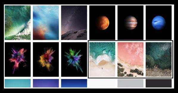 「iOS 10.3.3 beta」で「iPad Pro 12.9inch」に新しい3つの壁紙、WWDCでニューモデルの発表を示唆しているのか?
