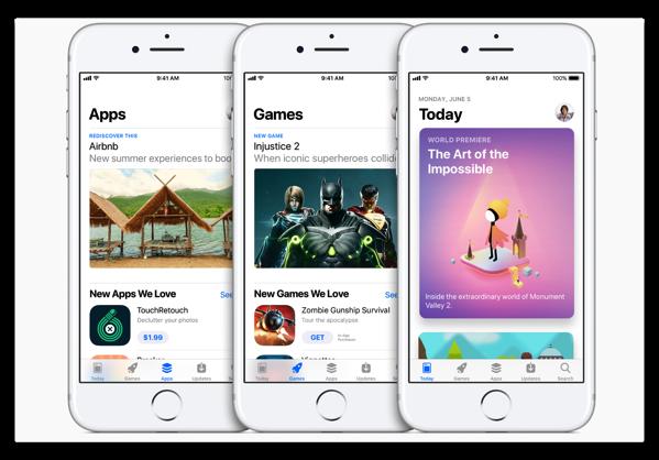 Apple Japan、NewsroomでiOS 11から実装される「App Store」の詳細を発表