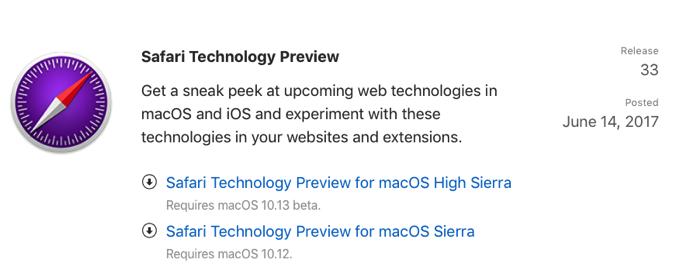 Safari Technology Preview33 001