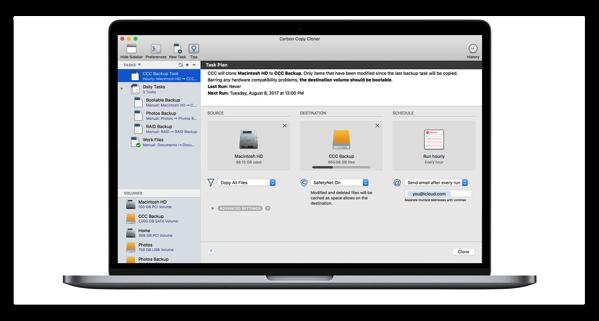 【Mac】APFSをサポートしたバックアップツール「Carbon Copy Cloner 5」がリリース