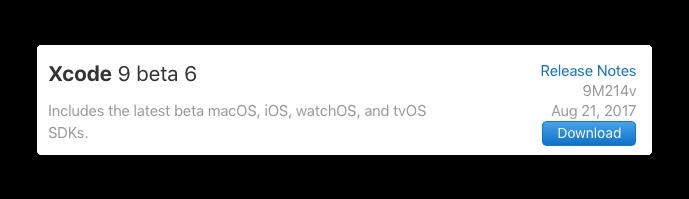 Xcode9b6