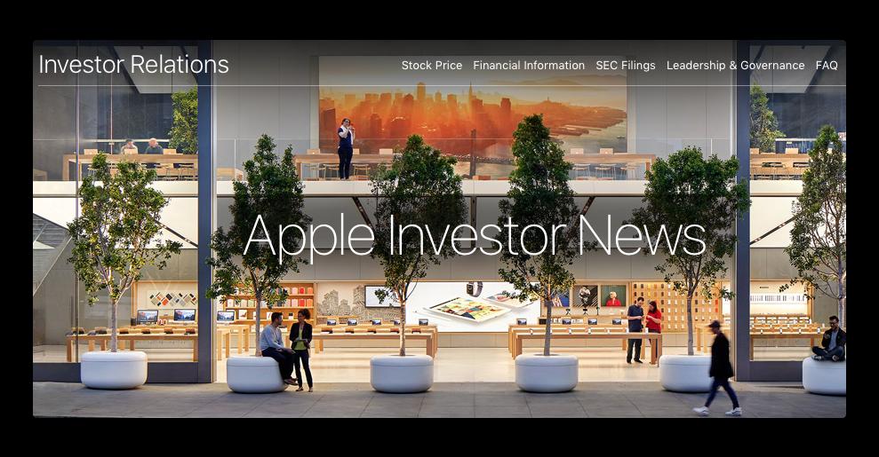 Apple、2018年2月13日にAppleの株主総会を開催