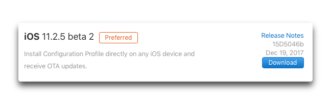 IOS 11 2 5 beta 2 001