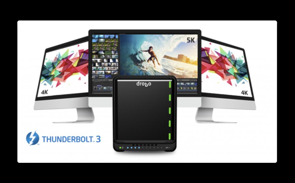 【レビュー】Thunderbolt3対応DAS型「Drobo 5D3」- ハードウェア設定