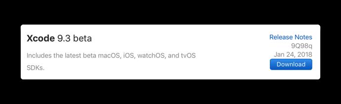Xcode 9 3 beta 001 png
