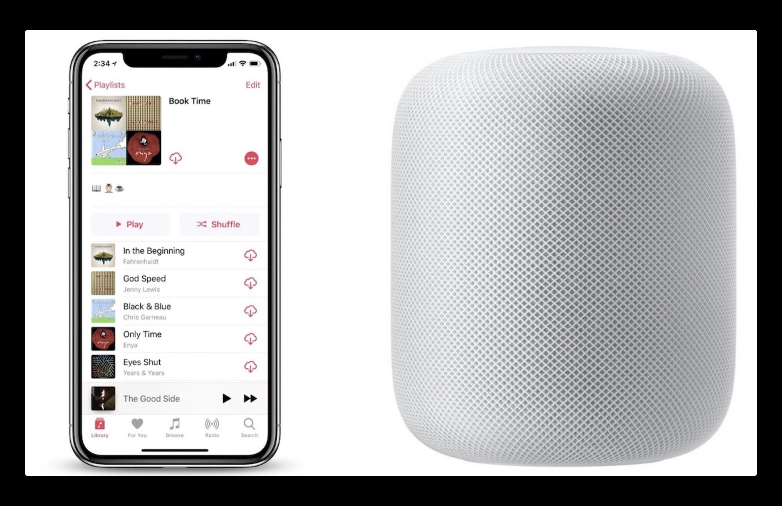 HomePod、Siriに聞いてApple Musicプレイリスト、ジャンル、ムードなどを再生する方法