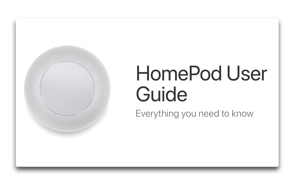 Apple、「HomePod User Guid」を公開