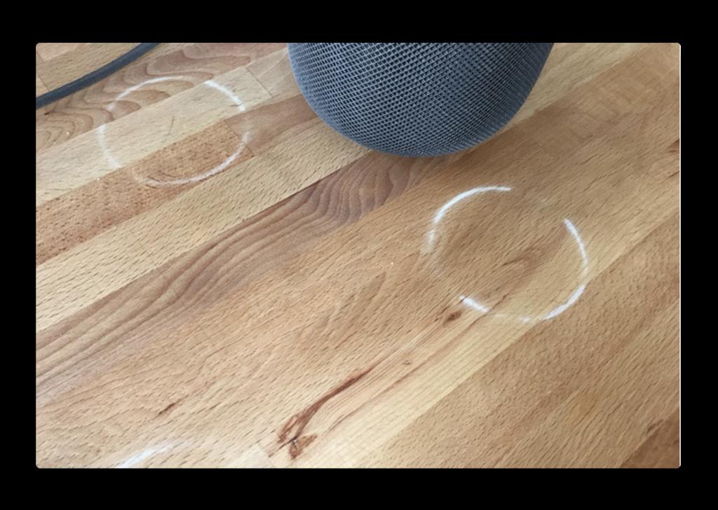 AppleのHomePod、木製のテーブルの上に白いリングの跡を残す問題があり、ケアする方法をサポート記事で公開