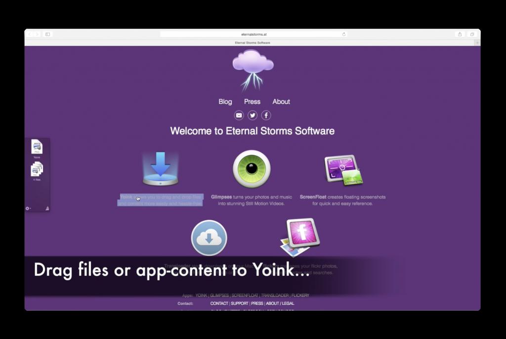 【Mac】フルスクリーンアプリの間でドラッグ&ドロップを簡単に行える「Yoink」がバージョンアップ
