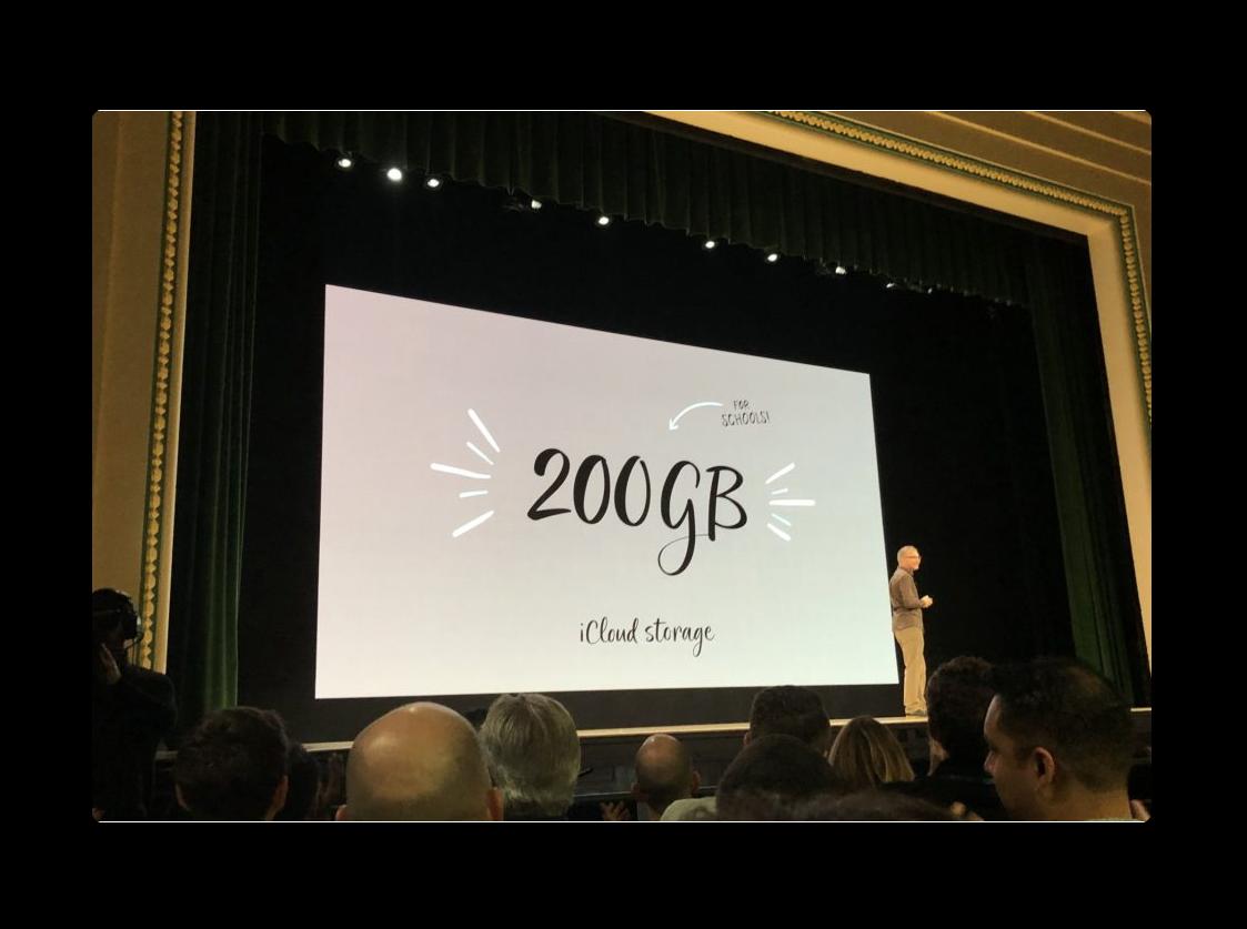 Apple、教職員と生徒には無料で200GB分のiCloudストレージを提供