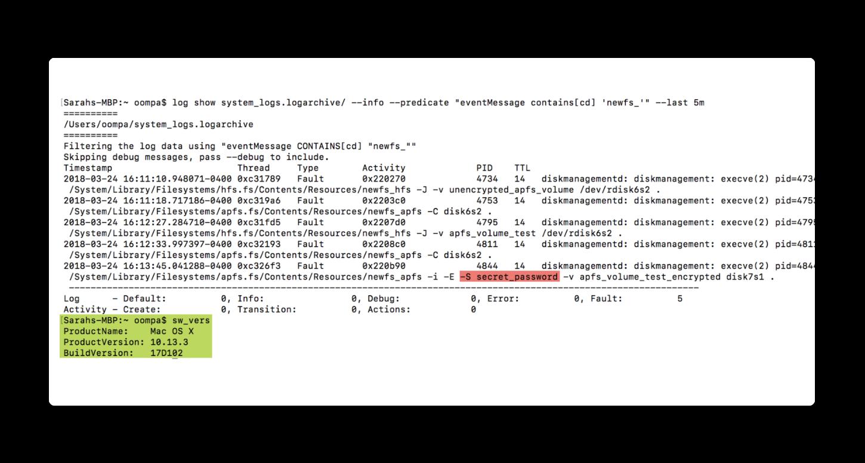 macOSの脆弱性によりパスワードがプレーンテキストで表示される