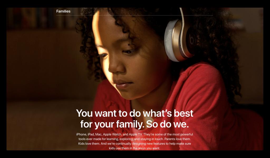 Apple、新しい「ファミリー」セクションをウェブサイトに追加