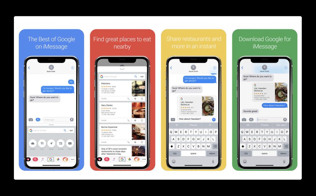 Google、iOS用Google検索アプリで iMessageの新しい検索拡張機能を導入