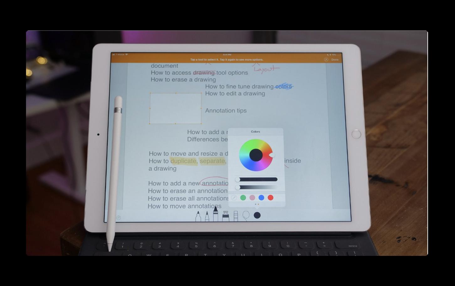 iPadのPagesで新しい図面とスマートアノテーション機能を使用するビデオが公開