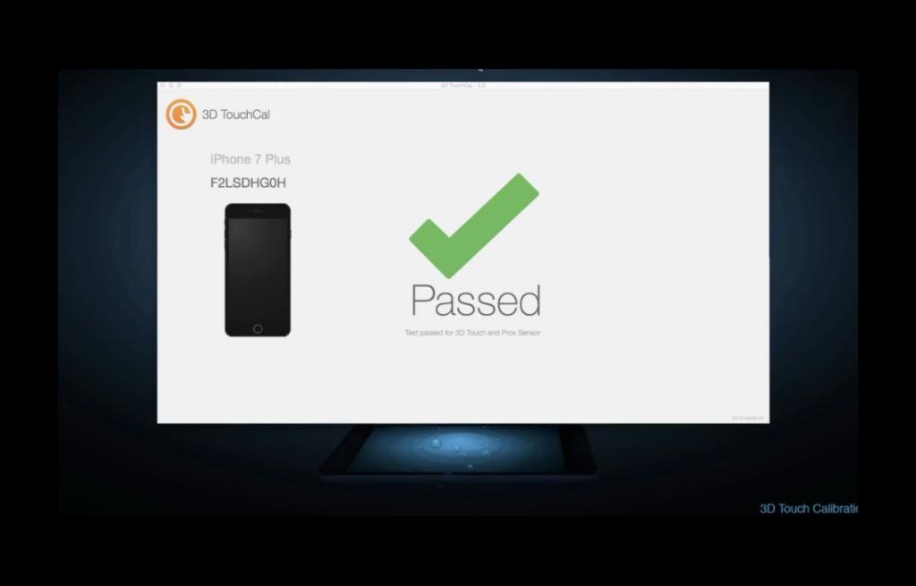 ディスプレイと3D Touchモジュール交換後にiPhoneをキャリブレーションするプロセスのビデオ