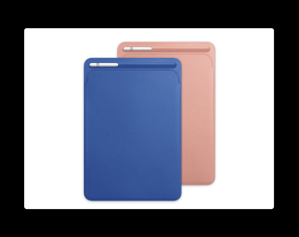 Apple、10.5インチiPad Pro用のレザースリーブとSmart Coverにスプリングコレクションを追加