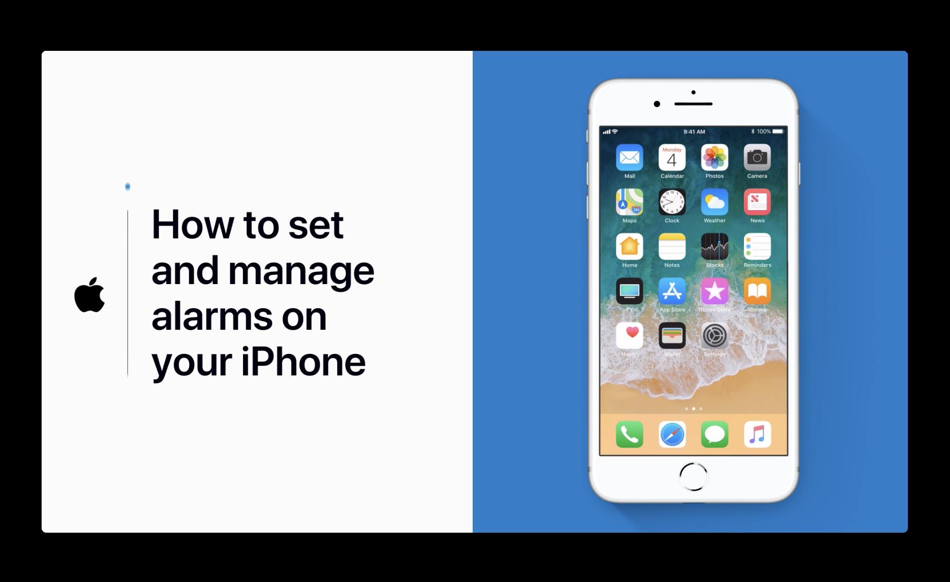 Apple Support、iPhoneでアラームを設定および管理する方法のビデオを公開