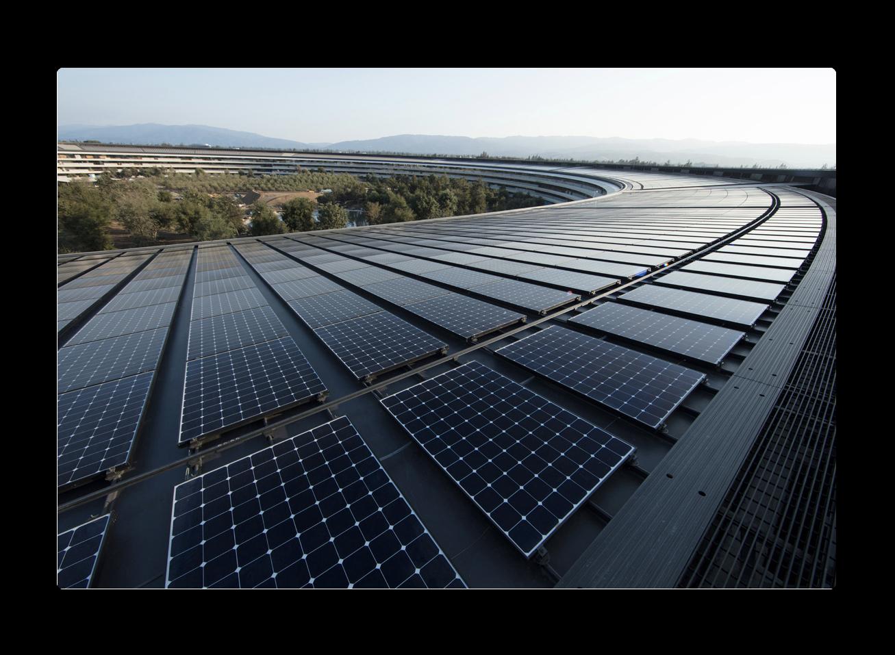 Apple、 再生可能エネルギーで 世界的に自社の電力を100%調達を発表