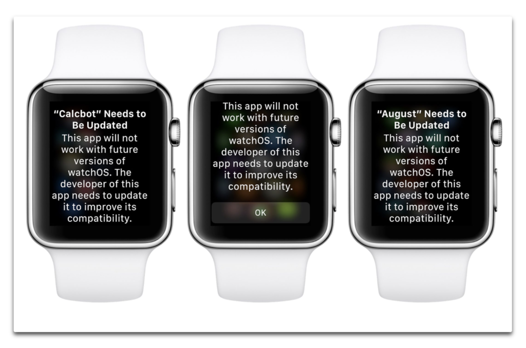 Apple Watchベータ版には古いアプリの警告が含まれています